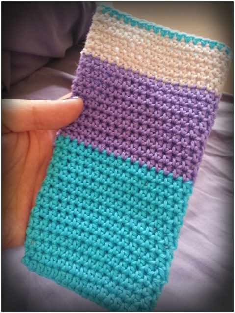 Crochet mobile bag